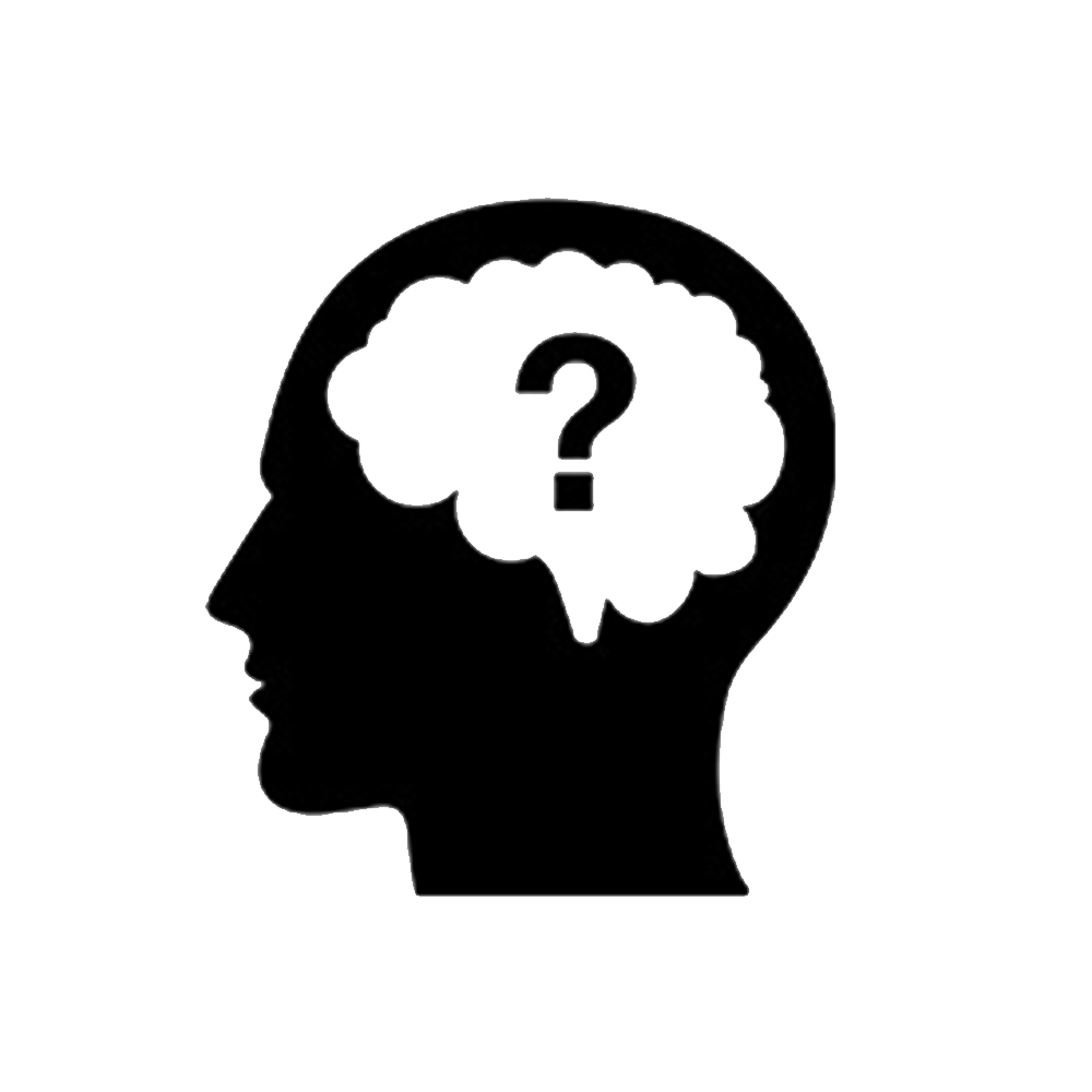 Thinking brain png. Thought question icon person