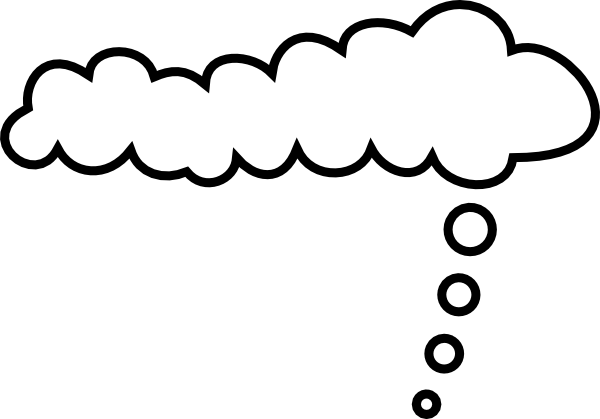 Thinking clouds png. Comic clip art at