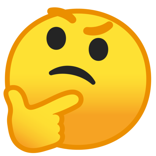 Emoji thinking png. Google android pie