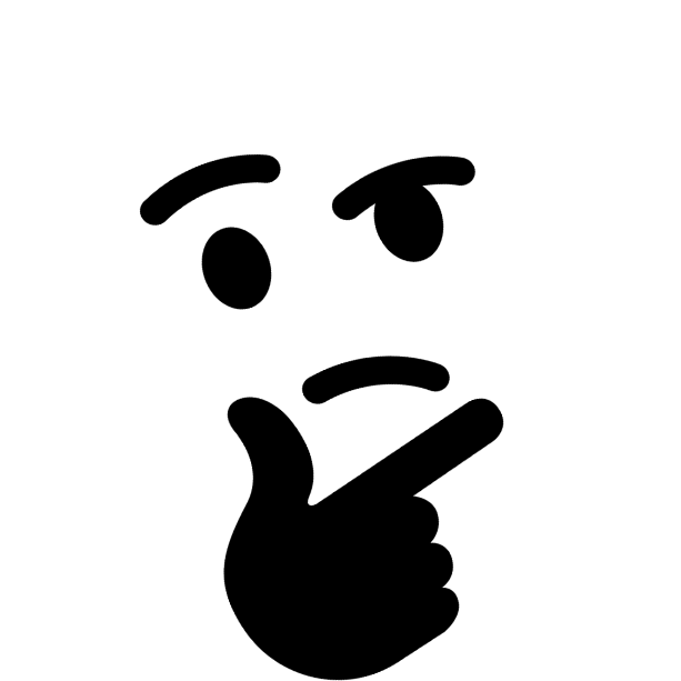 Thinking emoji hand png. Thinkparty discord