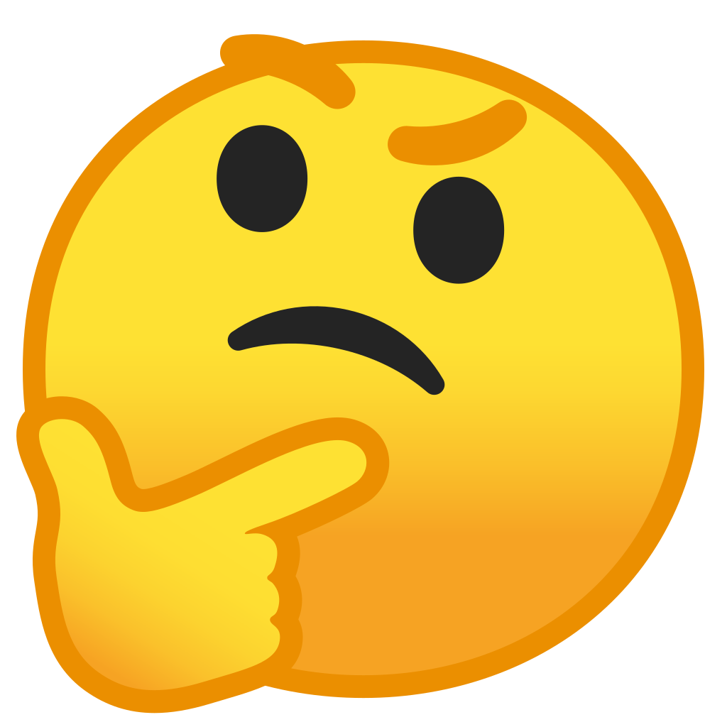 Thinking emoji hand png. Face icon noto smileys