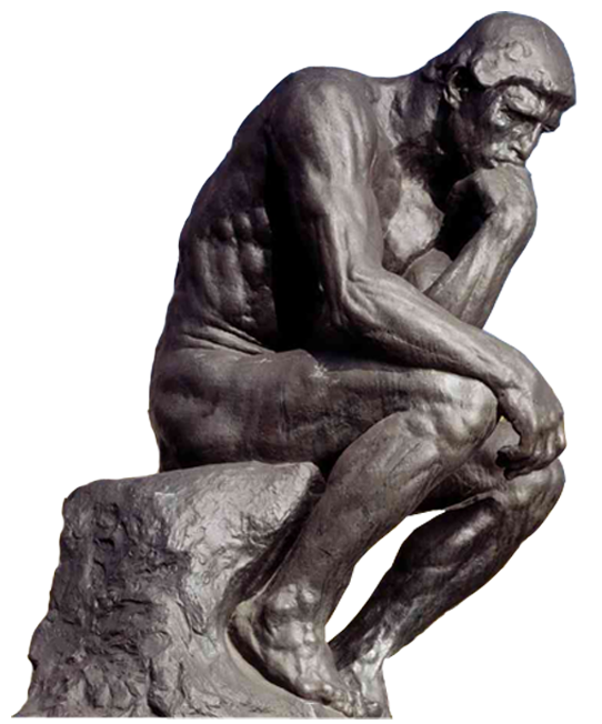 Thinking man statue png. The thinker bronze sculpture