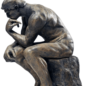 Thinking man statue png. Mainprofile llc exclusive branded