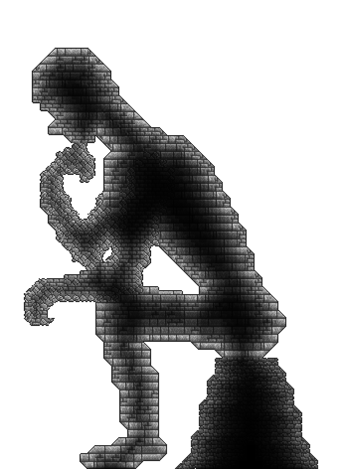 Thinking man statue png. I made the in