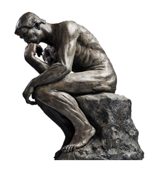Thinking man statue png. The thinker thought sculpture