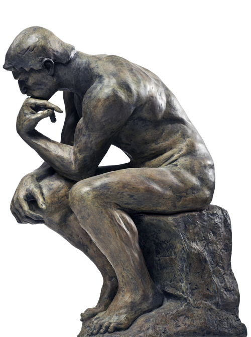 Thinking man statue png. Learning methods styles and