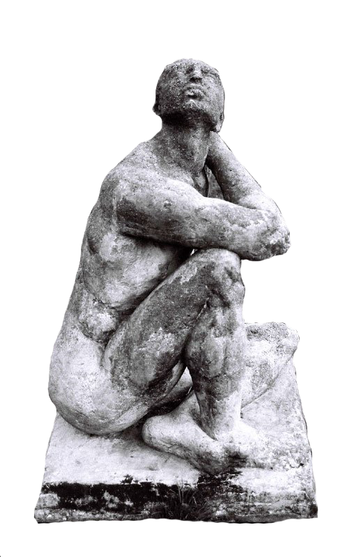 Thinking man statue png. By chaseandlinda on deviantart