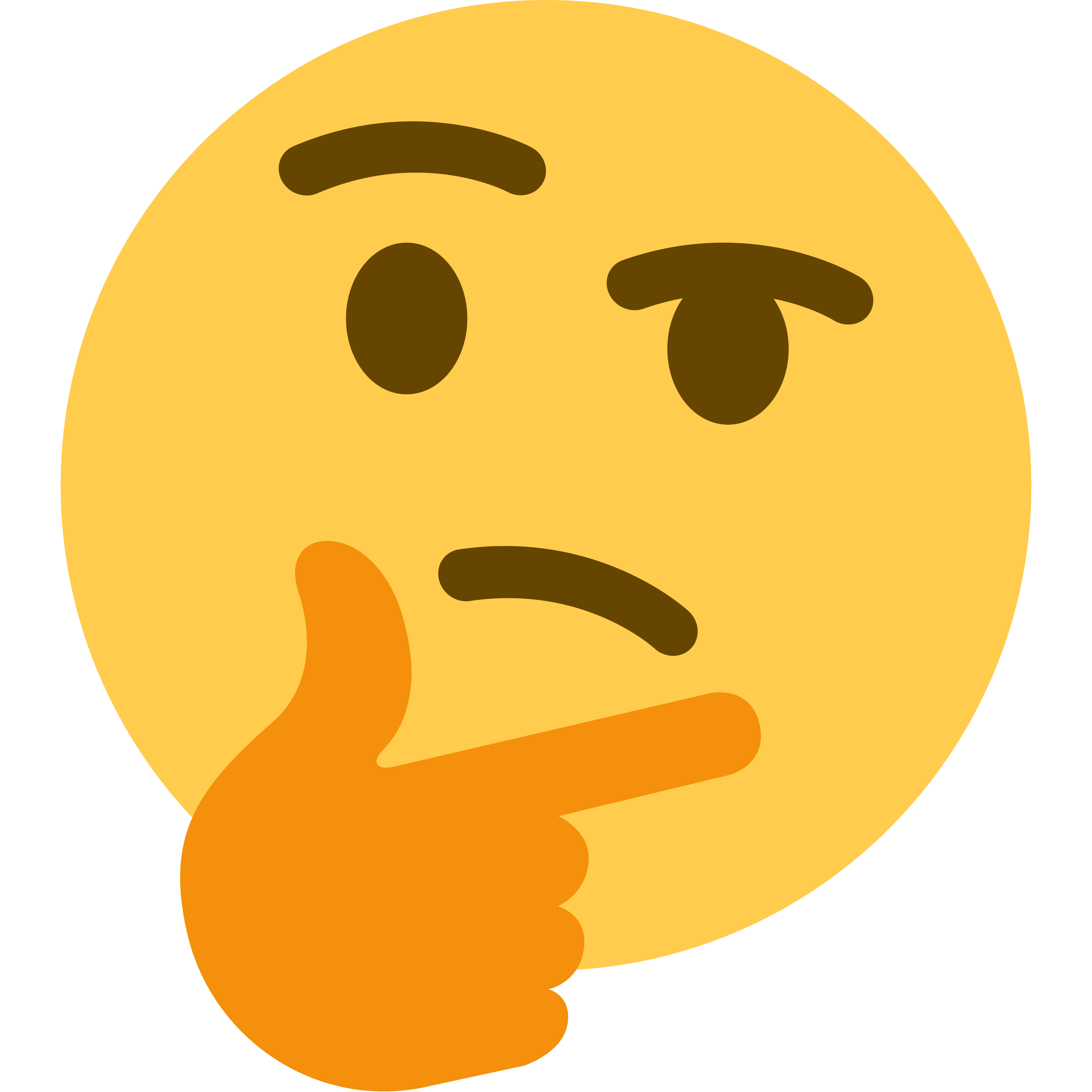 Thinking meme face png. Super high resolution transparent