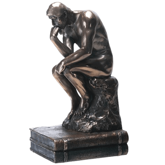 Thinking statue png. Bronze thinker sc by