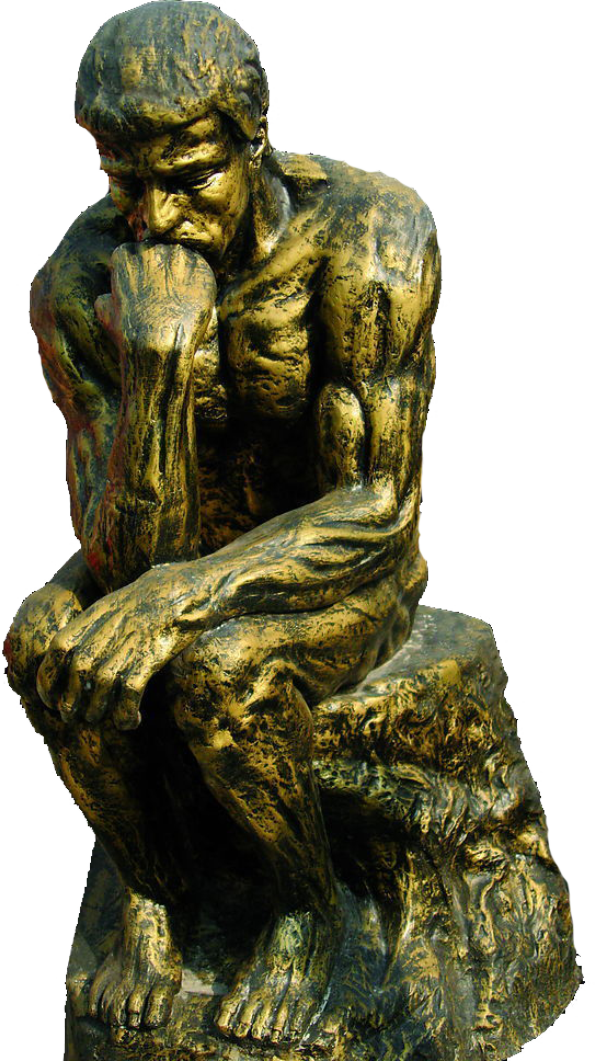 Thinking statue png. The thinker david sculpture
