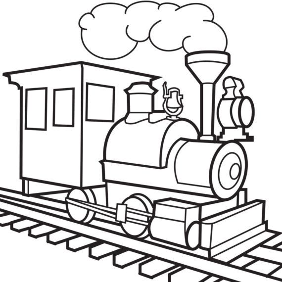 Track clipart black and white. Thomas train silhouette at