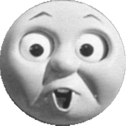 Thomas the tank engine face png. Surprised v roblox
