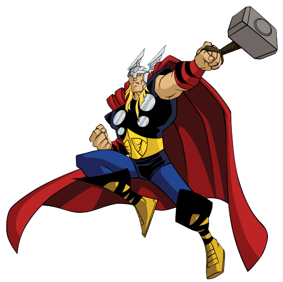 Thor clipart superhero. Best printables pinterest