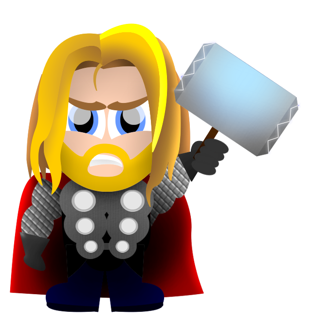 Clipart cartoon pencil and. Thor svg animated svg black and white library
