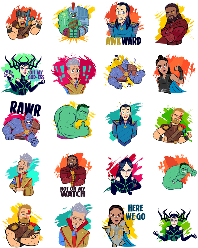 Thor clipart thor ragnarok. Facebook stickers sticker