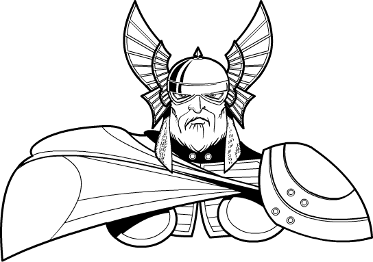 Thor clipart vector. Sod heromachine character portrait