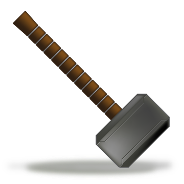 Thor vector thor's hammer. Icon by mediatiger on