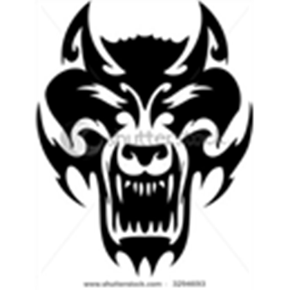Stock wolf image ready. Vector tribal picture royalty free library