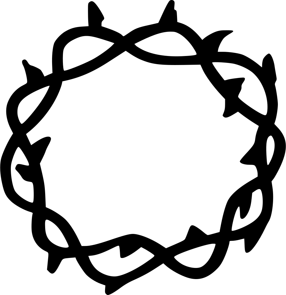 Thorn crown png. Svg icon free download