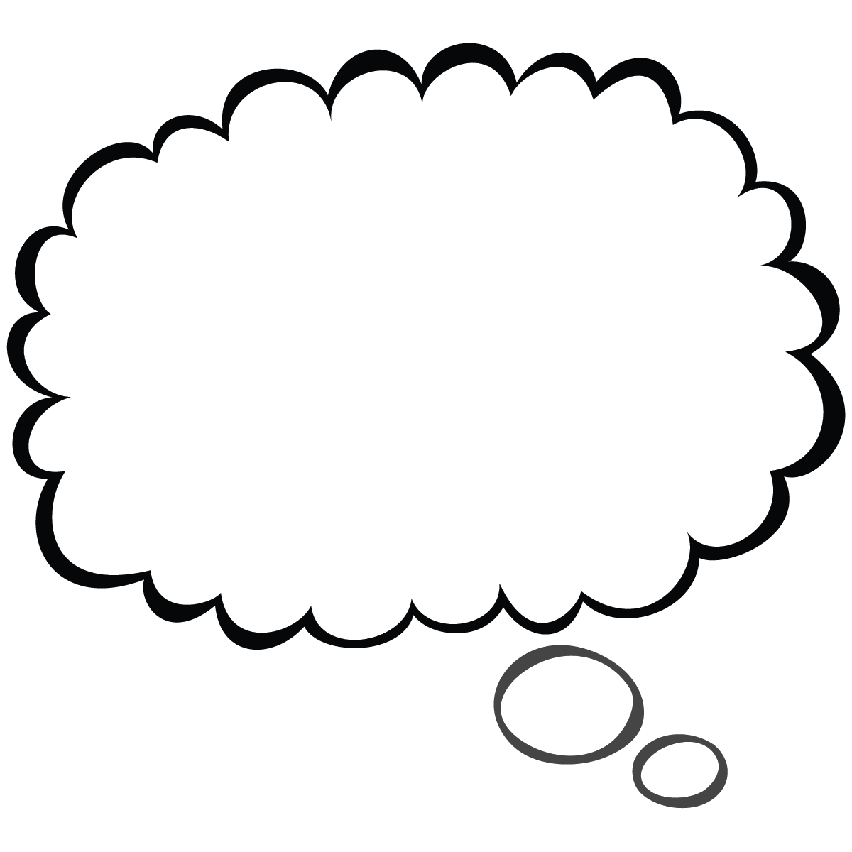 Thought bubble sketch png. Scal svg speech pinterest
