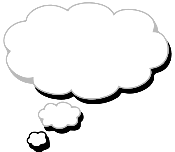Cloud clip art at. Thought clipart picture free download