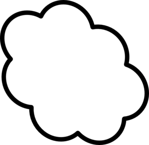 cloud clipart black and white