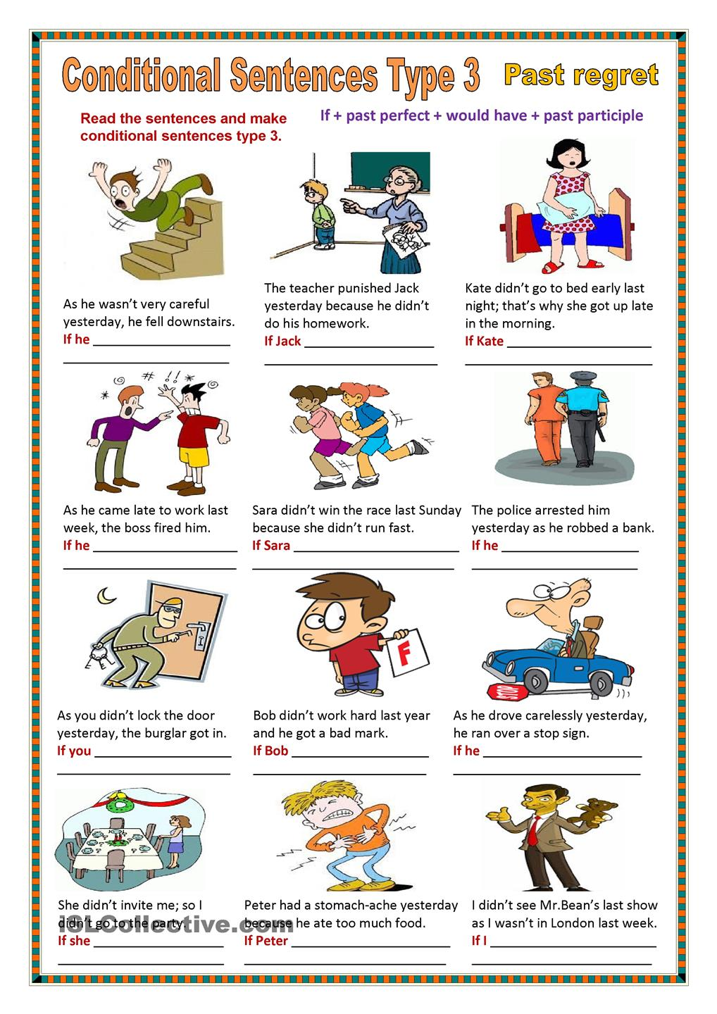 Thought clipart conditional. Sentence types clip art