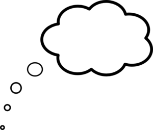 Thinking clouds png. Scaled cloud thought clip