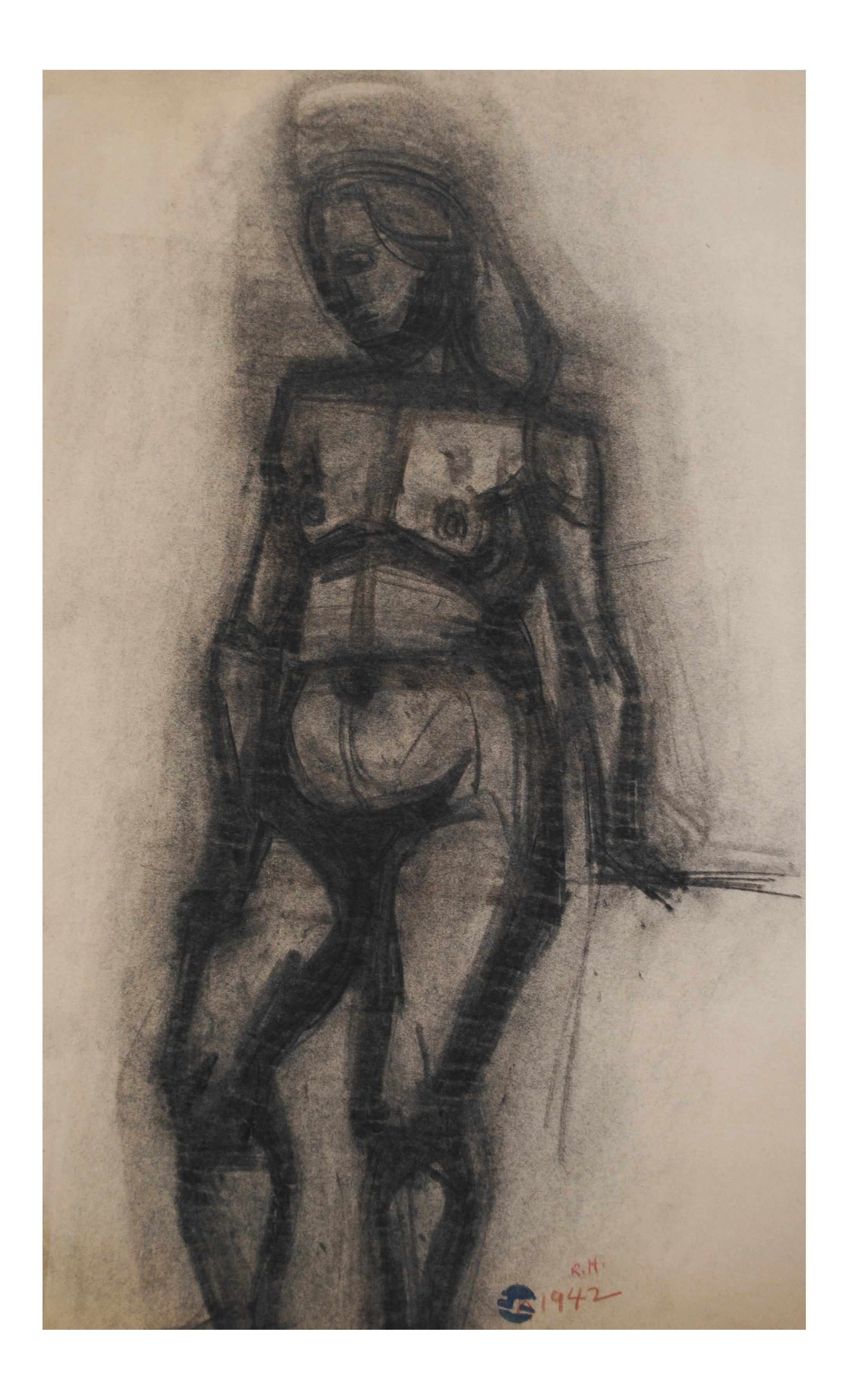 Drawing statue charcoal. By richard hackett