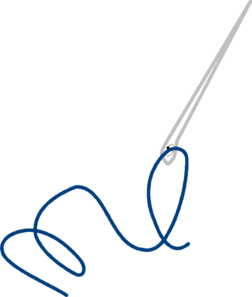 Thread vector sewing needle. And clip art at