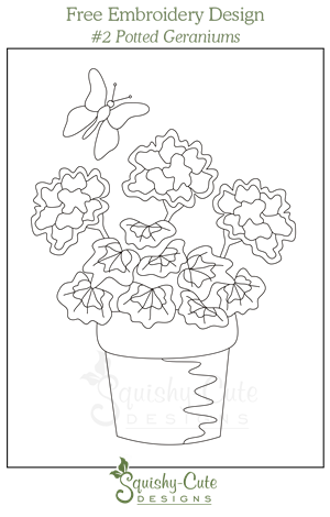 Embroidery drawing cute. Free hand pattern printable