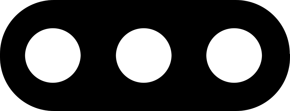 Three dots png. Rounded button svg icon