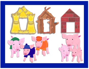 Three little clipart. Pigs houses clip art
