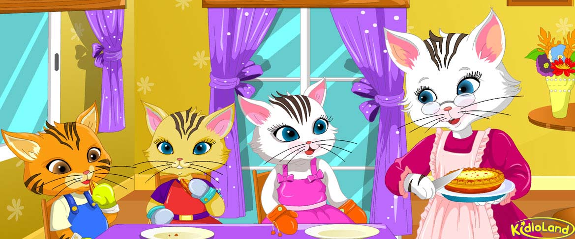 Three little clipart little kittens. Nursery rhymes app for