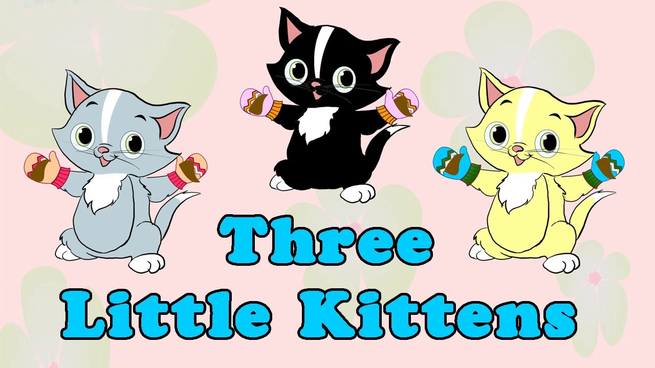 Three little clipart little kittens. Nursery rhymes youtube