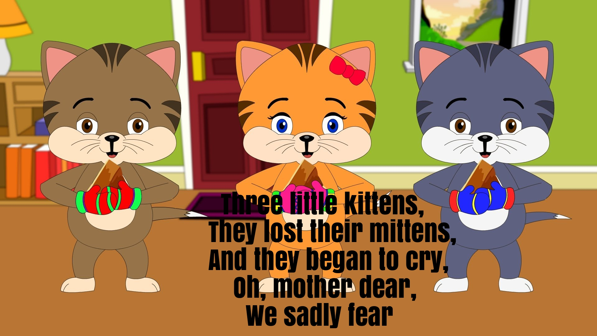 Three little clipart little kittens. Nursery rhyme lyrics super