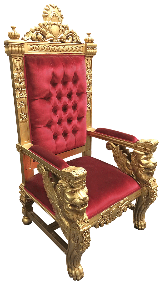 Throne chair png. Event rentals santa