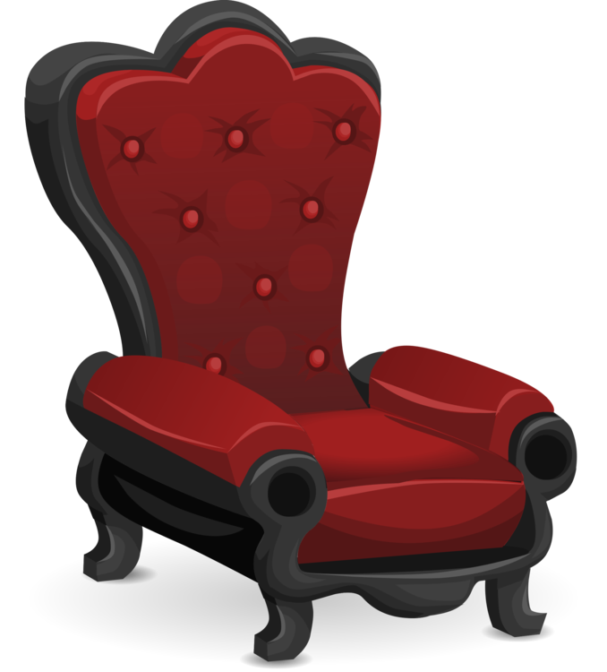 Armchair drawing fancy chair. Deckchair table couch furniture