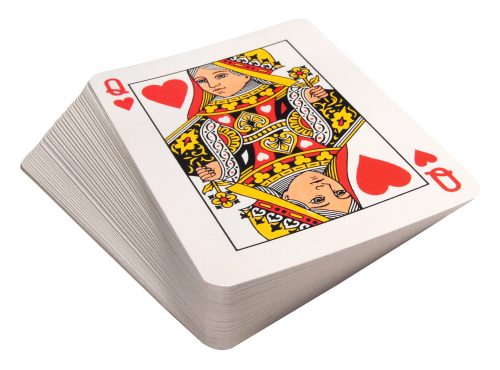 scattered playing cards png