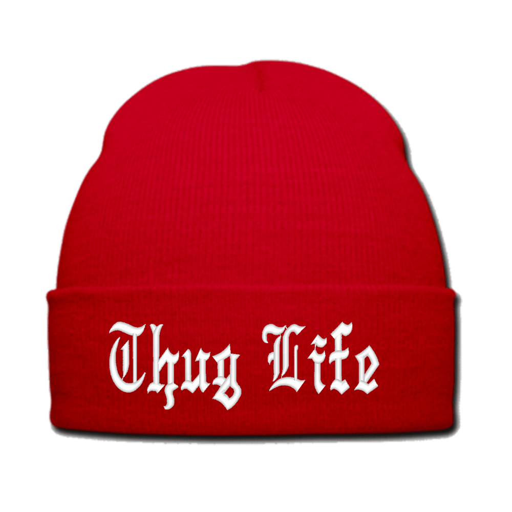 Thug life beanie png. Hat red transparent stickpng