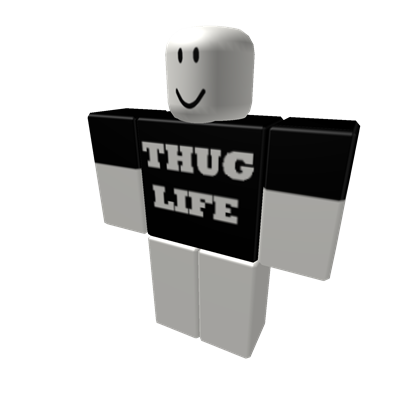 Thug transparent item. Life t shirt original
