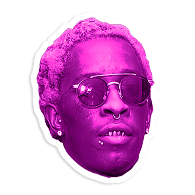 Thug transparent head. Is this rap s