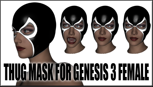 Thug transparent head. Mask for genesis female