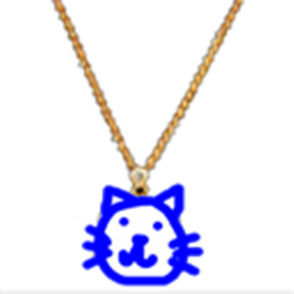 Thug transparent item. Cool cat club necklace