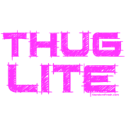 Thug transparent pink. Lite by diggwhat spreadshirt