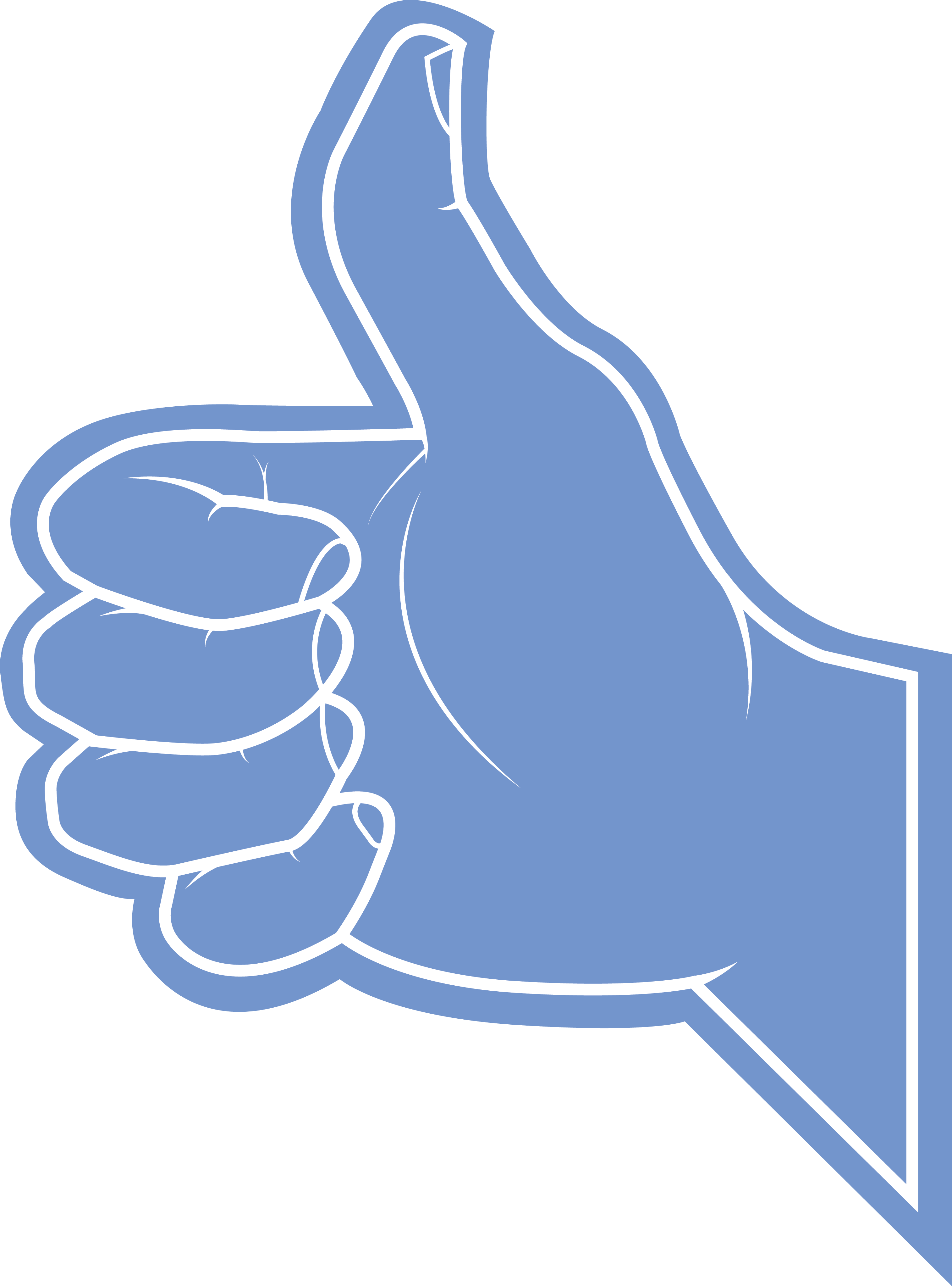 Thumb vector big blue. Pointed finger banner