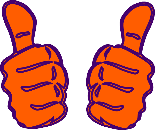 Thumb vector two. Thumbs up purple blue