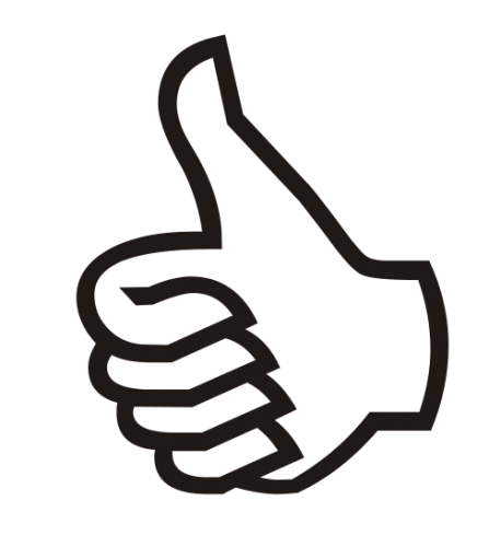 Thumbs clipart achieved. A up or down