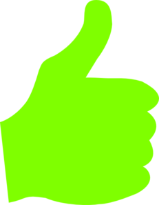 Green thumbs up png