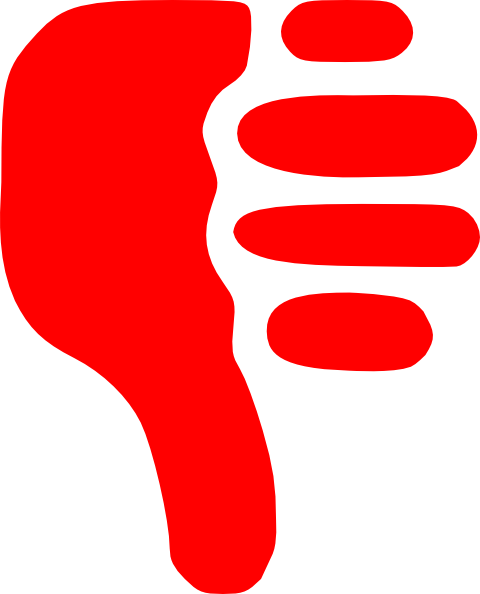 Thumb vector up and down. Free thumbs clipart download